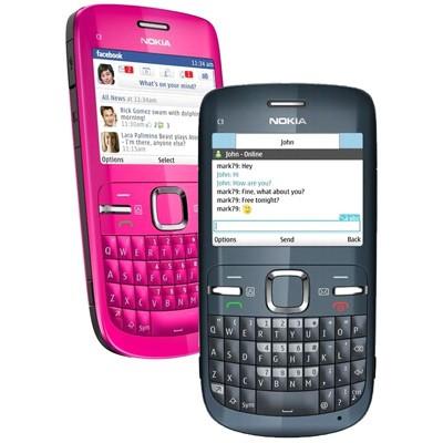 Le Nokia C3 graphite, le mobile messaging fun de Nokia
