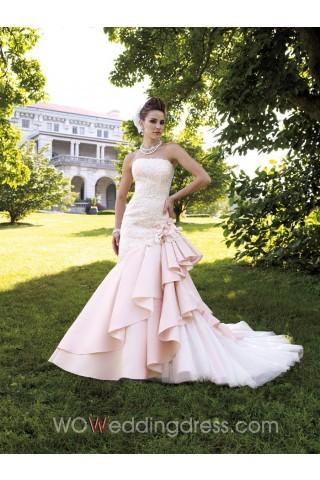 The traditional white wedding dress is no longer fresh, fashion popular wedding color dress.